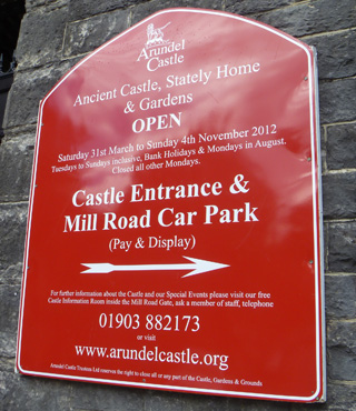 JL Signs & Graphics Arundel Castle